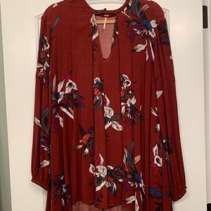 Free People Floral Tunic Dress